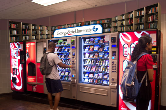 GSU Library Vending After Area Treatment