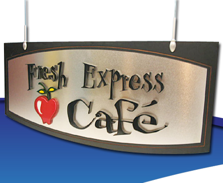 Custom area treatment graphics for the food-service and vending industries
